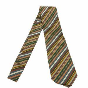 J. Crew Green Striped Silk Tie
